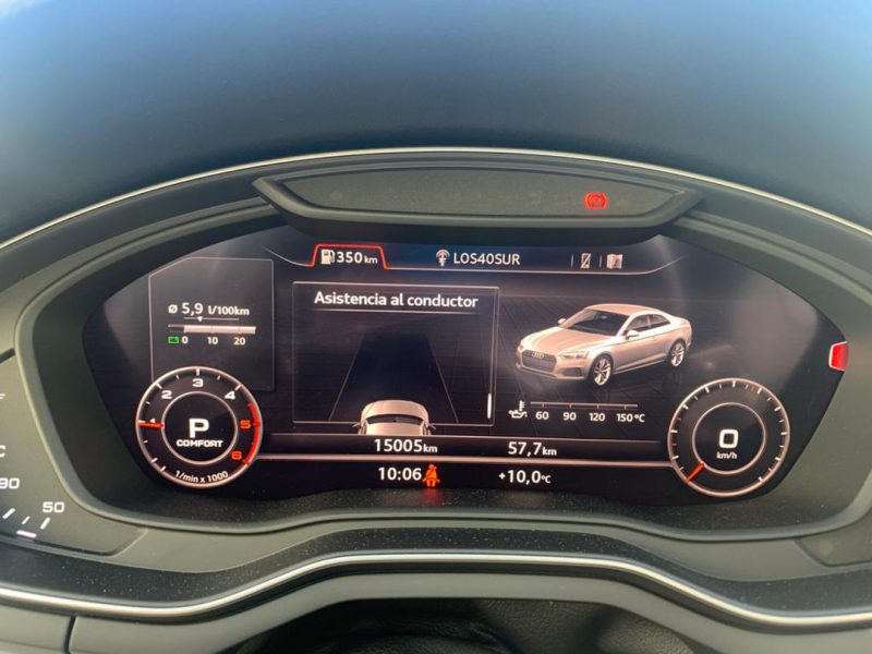 AUDI A5 2.0 TDI Coupe 190CV S line pantalla de control de velocidad y cuenta kilometros