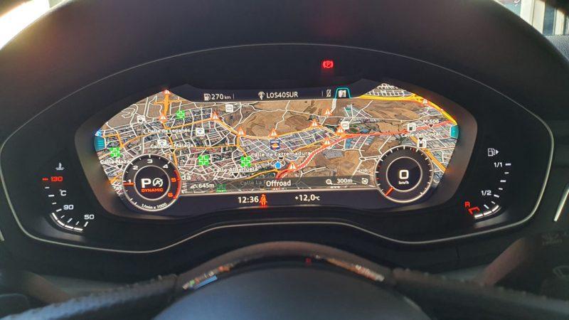 AUDI A5 2.0 TDI Coupe 190CV S line pantalla GPS enfrente del volante