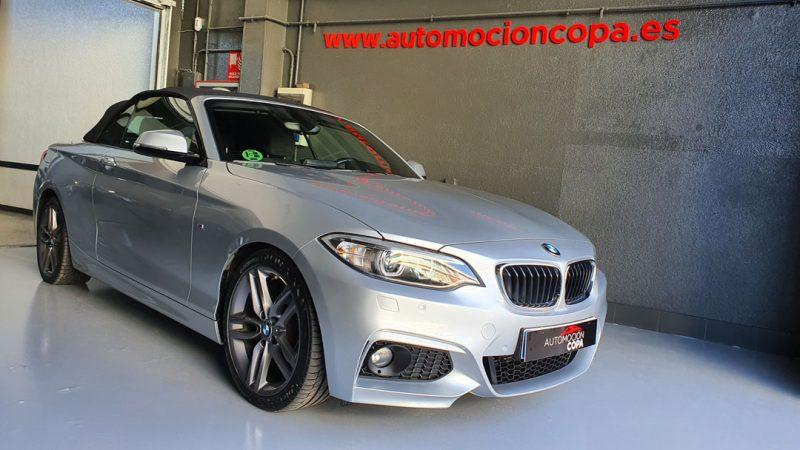 BMW Serie 2 218d Cabrio vista frontal y lateral derecho
