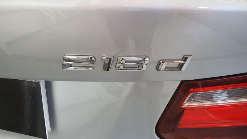 BMW Serie 2 218d Cabrio vista trasera y modelo