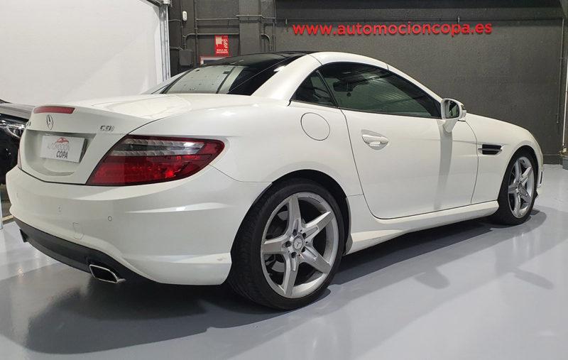 Mercedes Benz SLK segunda mano vista lateral trasero
