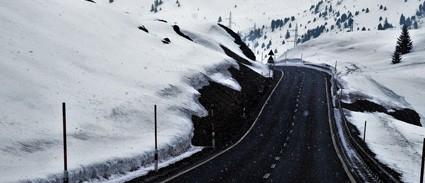 Ruta en nieve