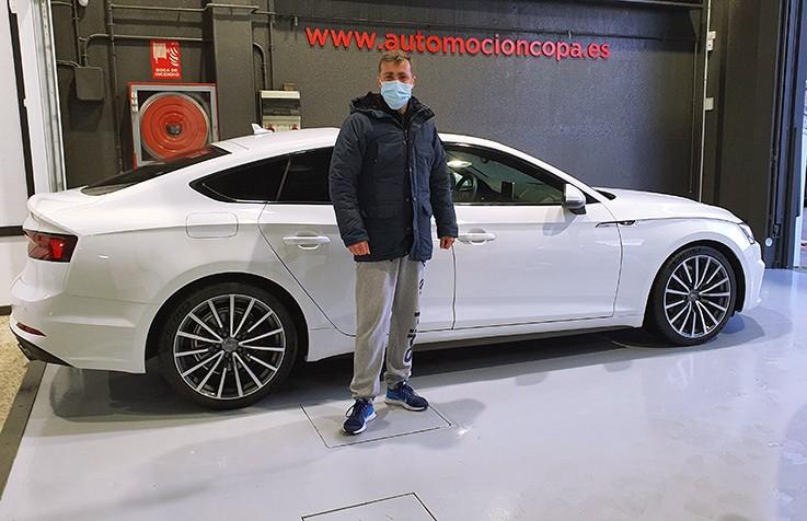 Cliente satisfecho, Audi A5 Sportback blanco.