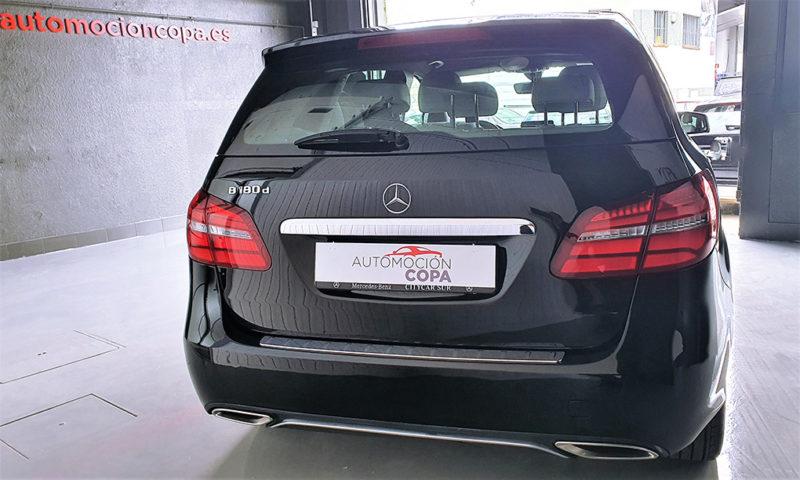 Mercedes clase b de segunda mano, vista trasera